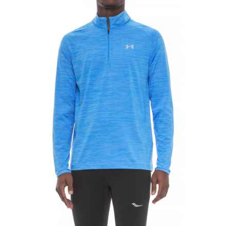 Playoff Zip Neck Shirt - UPF 30+, Long Sleeve (For Men) in Mako Blue - Closeouts