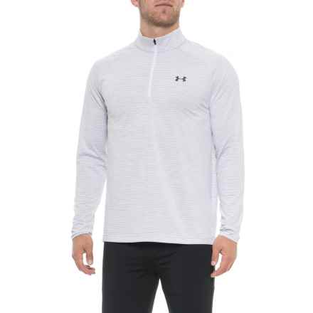 Playoff Zip Neck Shirt - UPF 30+, Long Sleeve (For Men) in Overcast Gray - Closeouts