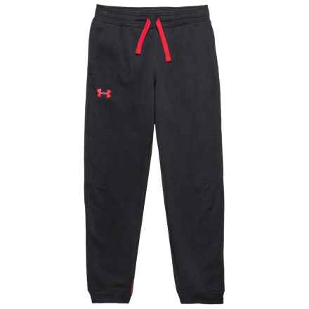 Rival Fleece Jogger Pants (For Big Boys) in Black/Red - Closeouts