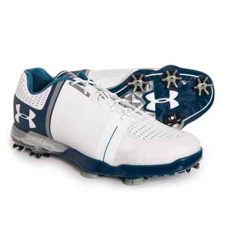 Spieth One Golf Shoes (For Men) in White/Steel/Academy Blue - Closeouts