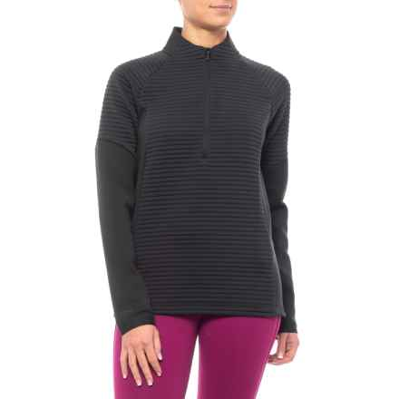 Storm Daytona Pullover Jacket - Zip Neck (For Women) in Black/Black - Closeouts