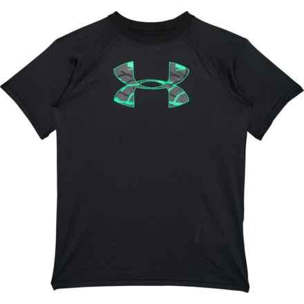 Tech Big Logo T-Shirt - Short Sleeve (For Big Boys) in Black - Closeouts