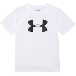Under Armour Tech Big Logo T-Shirt - Short Sleeve (For Big Boys) in White