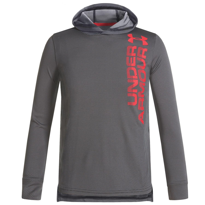 Under Armour Tech Textured Hoodie Shirt - Long Sleeve (For Big Boys)