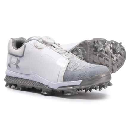 Tempo Sport BOA® Golf Shoes (For Women) in White/Metallic Silver - Closeouts