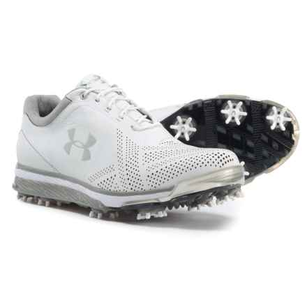 Tempo Tour Golf Shoes - Waterproof (For Men) in White/Metallic Silver - Closeouts
