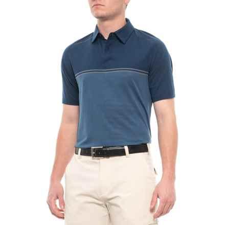 Threadborne® Calibrate Polo Shirt - Short Sleeve (For Men) in Academy/Rhino Gray - Closeouts