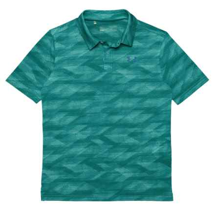 Threadborne® Polo Shirt - Short Sleeve (For Big Boys) in Teal Punch - Closeouts
