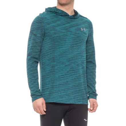 Threadborne® Seamless Hooded Shirt - Long Sleeve (For Men) in Bayou Blue - Closeouts