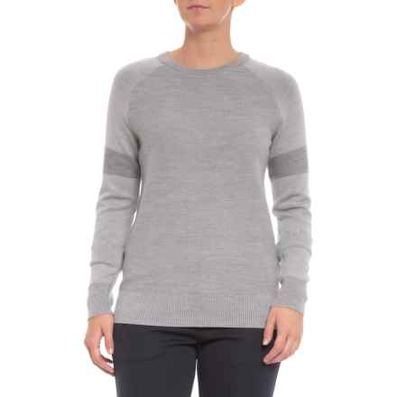 Threadborne® Shirt - Crew Neck, Long Sleeve (For Women) in Overcast Gray - Closeouts