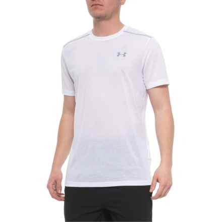 Threadborne® Streaker Shirt - Short Sleeve (For Men) in White - Closeouts