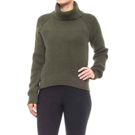 Turtleneck Sweater (For Women) in Military - Closeouts