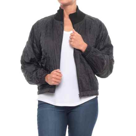UAS Nylon Bomber Jacket (For Women) in Black - Closeouts