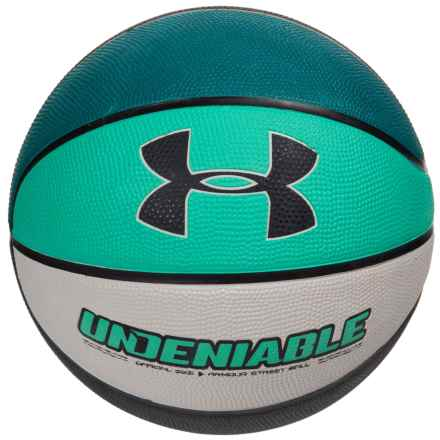 Undeniable Outdoor Rubber Basketball - Size 7 in Green/Black/Gray - Overstock