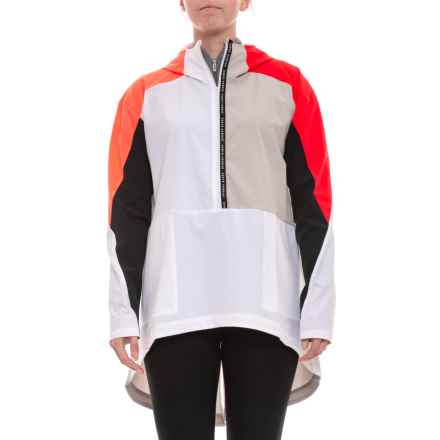 Unstoppable Woven Anorak Jacket - Zip Neck (For Women) in White - Closeouts