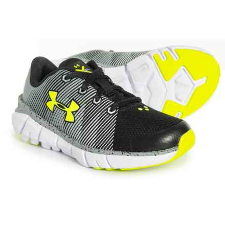 X Level Scramjet Running Shoes (For Little And Big Boys) in Black/Steel/Hi-Vis Yellow - Closeouts