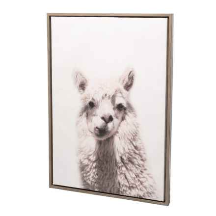"Uniek 23x33"" Gray Alpaca Wall Art in Gray - Closeouts"