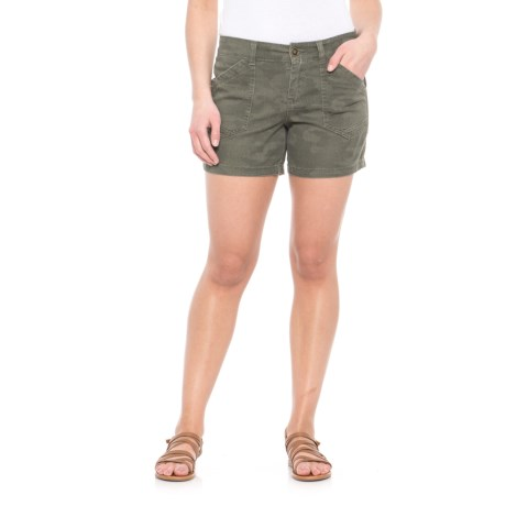 """Union Bay Alix Stretch Cotton Twill Shorts - 5"""" (For Women) in Olive Pixie Camo"""