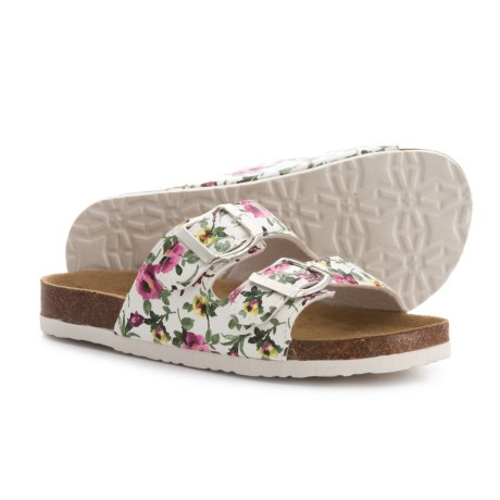 Union Bay Lina Sandals - Vegan Leather (For Girls) in White Floral