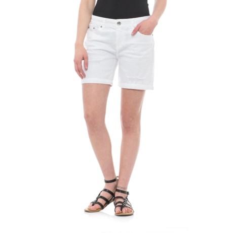 Union Bay Marni Destructed Denim Shorts (For Women) in White