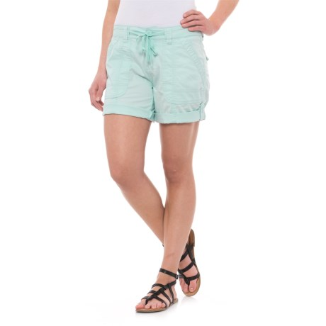 Union Bay Marty Midi Shorts (For Women) in Pastel Blue