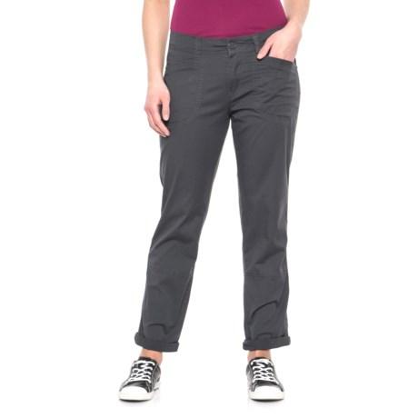 Union Bay Midori Stretch Cotton Twill Pants (For Women) in Galaxy Grey