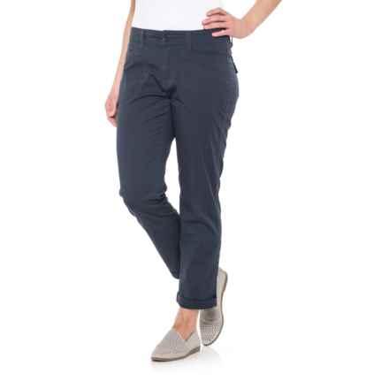 Union Bay Midori Stretch Cotton Twill Pants (For Women) in Vintage Indigo Navy - Closeouts