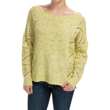 Uniq Hi Lo Pointelle Sweater (For Women)