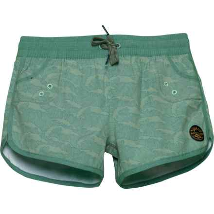 United By Blue Breakers Boardshorts (For Little and Big Girls) in Green - Closeouts