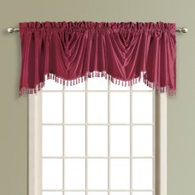 "United Curtain Co. Anna Austrian Valance - 108x31"", Faux Silk, Rod Pocket in Burgundy - Closeouts"