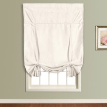 "United Curtain Co. Anna Tie-Up Shade - 40x63"", Faux Silk, Rod Pocket in White - Closeouts"