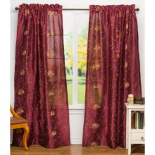 "United Curtain Co. Avalon Curtains - 108x63"", Rod-Pocket Top in Burgundy - Closeouts"