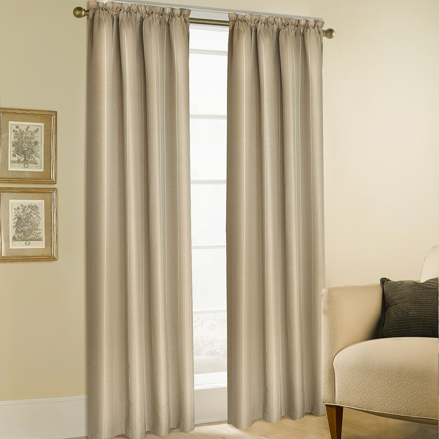 united curtain co bedford curtains 108x63 rod pocket in linen