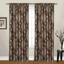 """United Curtain Co. Belvedere Curtains - 104x63"""", Rod Pocket in Chocolate - Closeouts"""