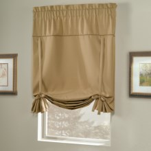 """United Curtain Co. Blackstone Blackout Tie-Up Shade - 40x63"""", Rod Pocket in Gold - Closeouts"""