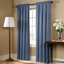 "United Curtain Co. Blackstone Curtains - 108x84"", Rod Pocket in Blue - Closeouts"