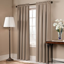 """United Curtain Co. Blackstone Curtains - 108x84"""", Rod Pocket in Taupe - Closeouts"""