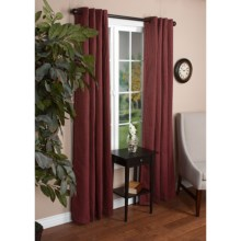 "United Curtain Co. Park Square Curtains - 108x84"", Grommet Top in Burgundy - Closeouts"