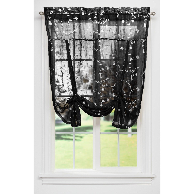 United Curtain Co Savannah Tie Up Shade 40x63 Rod