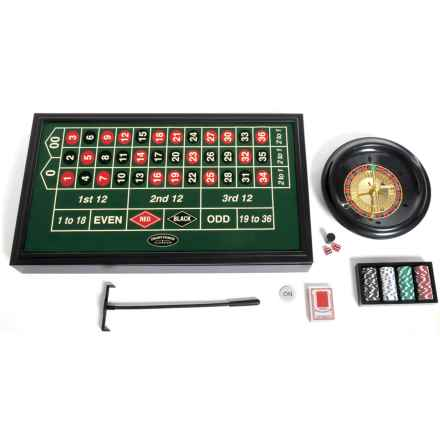 University Games 4-in-1 Casino Game Set - 2-20 Players, Ages 18+ in See Photo - Closeouts