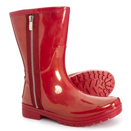 e7cfd80a4a13 UNLISTED Kenneth Cole Zip Mid Rain Boots - Waterproof (For Women) in Cherry  Red