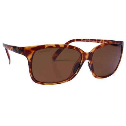Unsinkable Karma Honey Sunglasses - Polarized (For Women) in Honey Tortoise/Color Blast Brown - Overstock