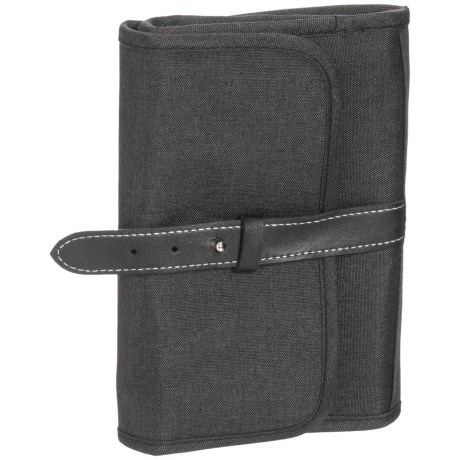 Untangled Fold-Up Tech Organizer Pouch in Black