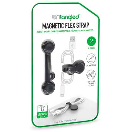 Untangled Magnetic Flex Cord Storage Strap - 2-Pack in Black - Closeouts