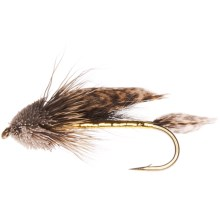 Unweighted Muddler Minnow Streamer Fly - Dozen in Natural - Closeouts