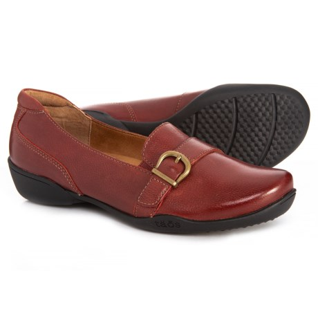 Upp Loafers - Leather (For Women) - RED (8 )