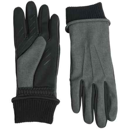 UR Powered Fabric Combo Gloves - Touchscreen Compatible (For Men) in Charcoal - Closeouts