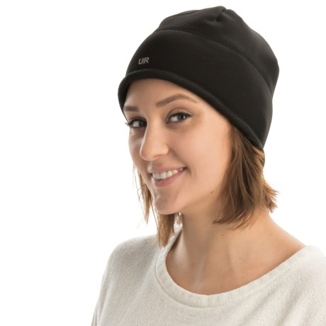UR Powered Fleece-Lined Beanie with Removable Audio Speakers (For Women) in Black