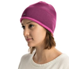 UR Powered Fleece-Lined Beanie with Removable Audio Speakers (For Women) in Hyacinth - Overstock