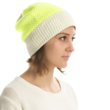 UR Powered Zea Deco-Stitch Knit Audio Beanie (For Women) in Pillow - Overstock